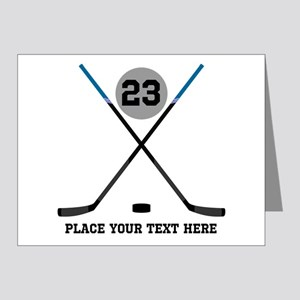 Ice Hockey Personalized Note Cards (Pk of 20)
