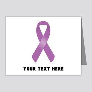 Purple Awareness Ribbon Cust Note Cards (Pk of 20)