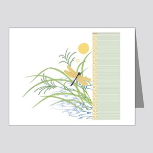 Dragonfly in Rice Field Note Cards (Pk of 20)