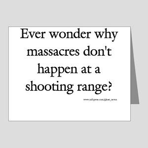 Guns & Massacres Note Cards (Pk of 20)