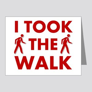 I Took The Walk Note Cards (Pk of 20)