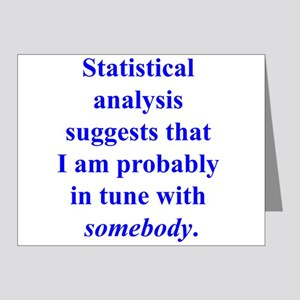 Statistically in Tune . . . Note Cards (Pk of 20)