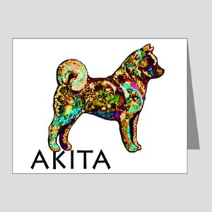 Glow Bright Akita Note Cards (Pk of 20)