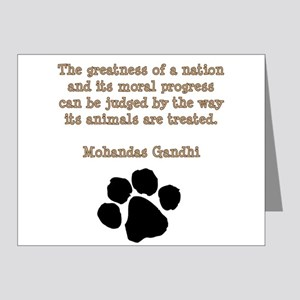 Gandhi Animal Quote Note Cards (Pk of 20)