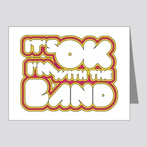 I'm With The Band Note Cards (Pk of 20)