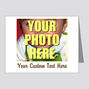 Custom Photo and Text Note Cards (Pk of 20)