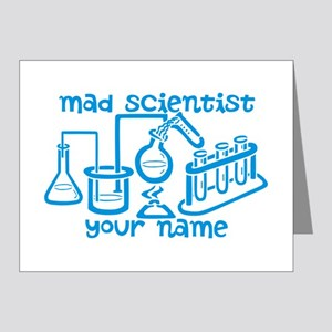 Personalized Mad Scientist Note Cards (Pk of 20)