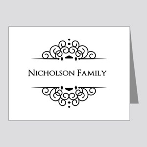 Personalized family name Note Cards