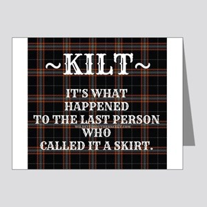 Kilt-Dont Call It A Skirt Note Cards