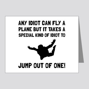 Idiot Skydiving Note Cards