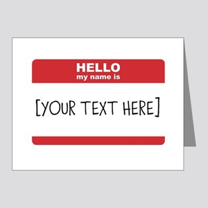 Name Tag Big Personalize It Note Cards
