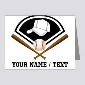 Custom Name/Text Baseball Gear Note Cards