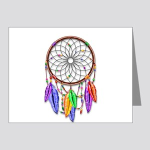 Dreamcatcher Rainbow Feathers Note Cards