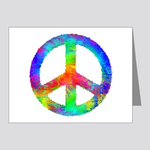 Distressed Rainbow Peace Sign Note Cards