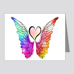 Angel Wings Heart Note Cards