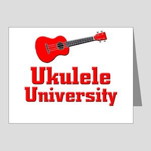 red ukulele Note Cards