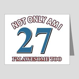 27 Birthday Design Note Cards