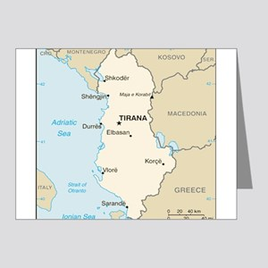 Albanian Map Note Cards