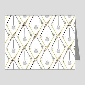 Five Lacrosse Sticks Note Cards