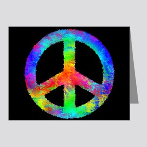 Abstract Rainbow Peace Sign Note Cards