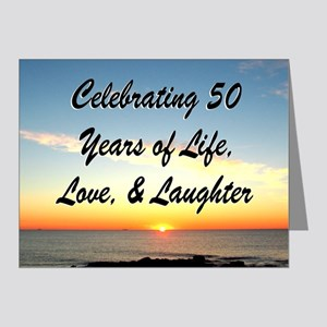 INSPIRATIONAL 50TH Note Cards (Pk of 20)