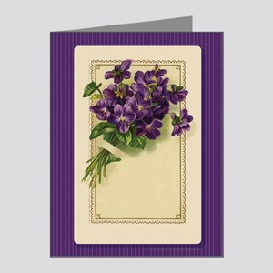 Bouquet of Violets Note Cards (Pk of 20)