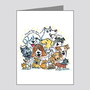 Thank You Dogs & Cats Note Cards (Pk of 20)