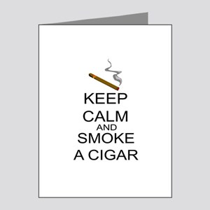 Keep Calm And Smoke A Cigar Note Cards (Pk of 20)