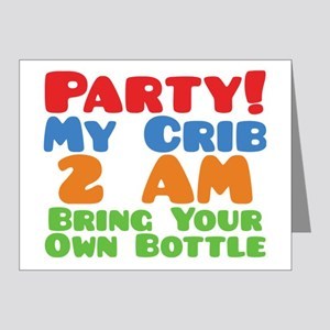 Party My Crib 2 AM BYOB Note Cards (Pk of 20)