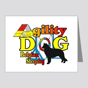 Belgian Sheepdog Agility Note Cards (Pk of 20)