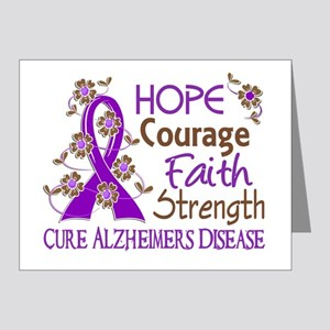 Hope Courage Faith Alzheimers Note Cards (Pk of 20
