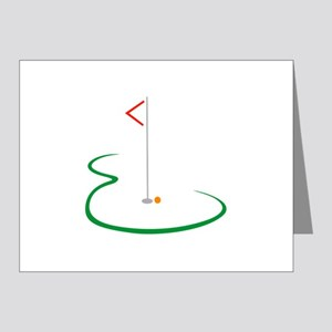 Golf Green Note Cards