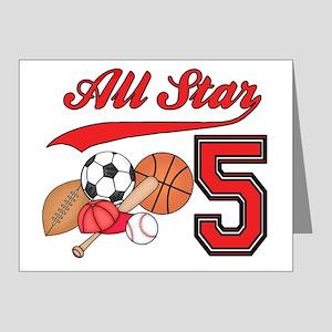 AllStar Sports 5th Birthday Invitations (Pk of 20)