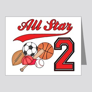 AllStar Sports 2nd Birthday Invitation (20 Pk)