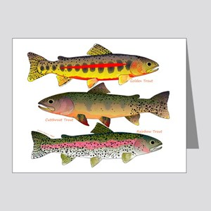 3 Western Trout Note Cards