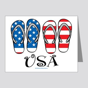 USA-Flip-Flops Note Cards (Pk of 20)