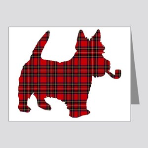 Scottish Terrier Tartan Note Cards (Pk of 20)