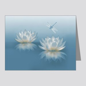 Blue Lotus and Dragonfly Note Cards (Pk of 20)