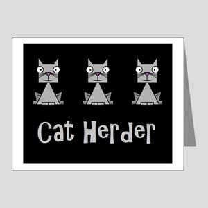Cat Herder - job humor with cats Note Cards