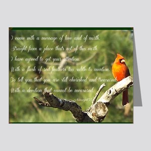 Cardinal Message Note Cards