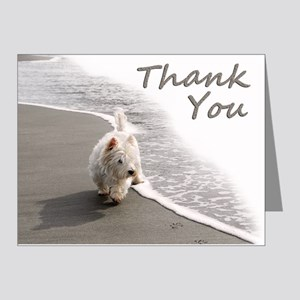 Westie Thank You Note Cards (Pk of 20)