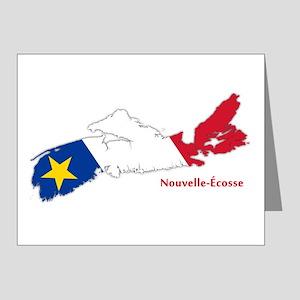 Acadian Flag Nova Scotia Note Cards (Pk of 20)
