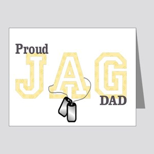 proud jag dad Note Cards (Pk of 20)