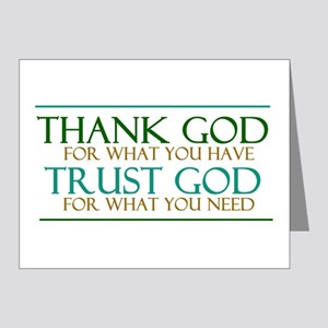 Thank God - Trust God Note Cards (Pk of 20)