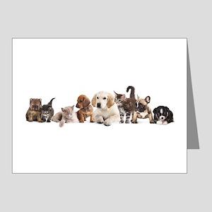 Cute Pet Panorama Note Cards (Pk of 20)