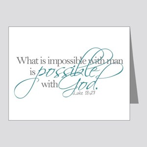 Possible with God Note Cards
