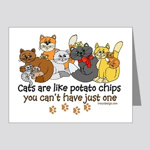 Cats are like potato chips Note Cards (Pk of 20)