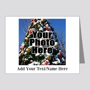 Custom Personalized Color Photo and Text Note Card