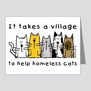 Feral Cats, Village Note Cards (Pk of 20)
