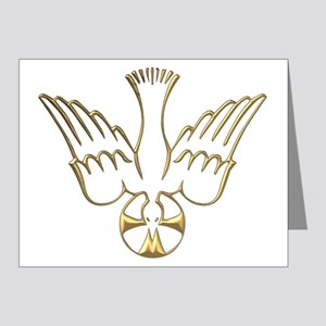 Golden Descent of The Holy Spirit Symbol Note Card